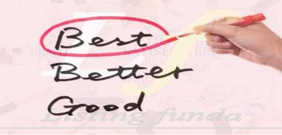 Choose Best Better Good