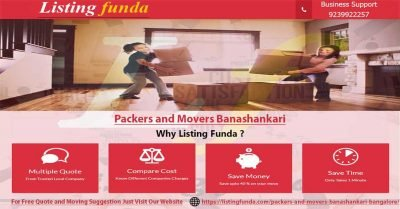 Packers Movers Banashankari Bangalore Image of ListingFunda.Com