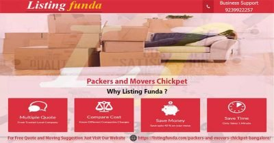 Packers Movers Chickpet Bangalore Image of ListingFunda.Com