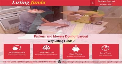 Packers Movers Domlur Layout Bangalore Image of ListingFunda.Com
