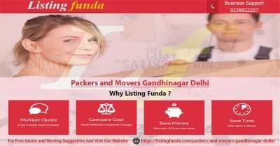 Packers Movers Gandhinagar Delhi Image of ListingFunda.Com