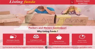 Packers Movers Govindpuri Delhi Image of ListingFunda.Com